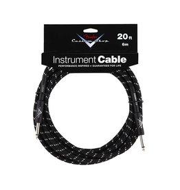 NEW Fender Custom Shop Cable - 20' - Black Tweed