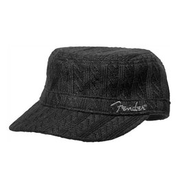Fender NEW Fender Military Sweaterknit Hat - Black - One Size Fits Most