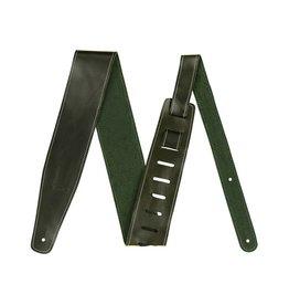 "Fender NEW Fender Broken-In Leather Strap - Green - 2.5"""