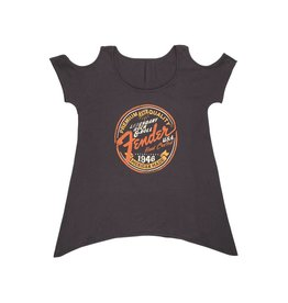 Fender NEW Fender Open Shoulder Women's T-Shirt - Grey - M