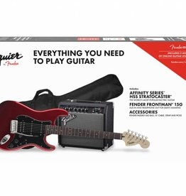 Squier NEW Squier Affinity Strat Pack HSS w/ Guitar & Amplifier - Red