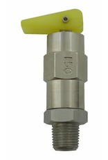 Foxx Equipment Company Relief Valve 150 PSI 1/8 MPT (SS)