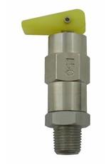 Foxx Equipment Company Relief Valve 150 PSI 1/8 MPT (SS)