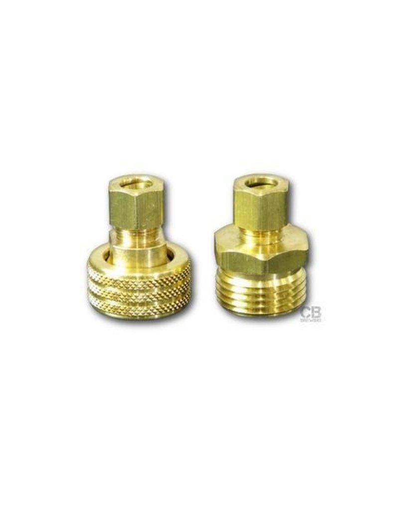 Coldbreak Brewing Compression Conversion Kit (Brass)