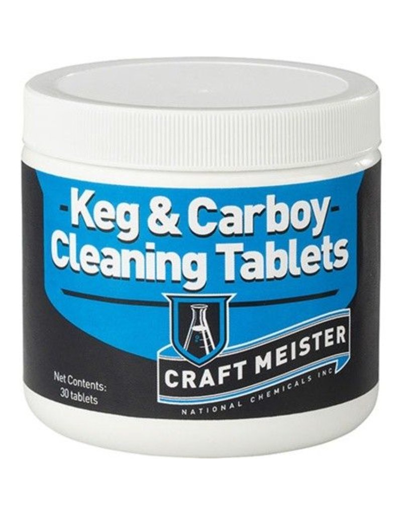 Craft Meister Keg and Carboy Cleaning Tablets - 30 Count