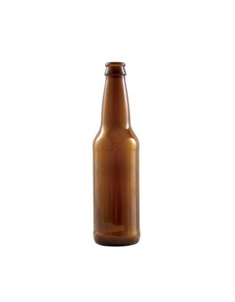 LD Carlson 12 oz Amber Beer Bottles 24/Case