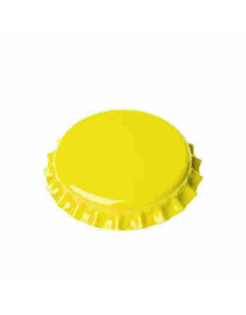 Crown Cap W/Oxy-Liner 144/Bag (Yellow)