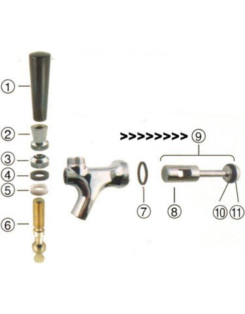 Foxx Equipment Company Plunger Standard Faucet (CPB)