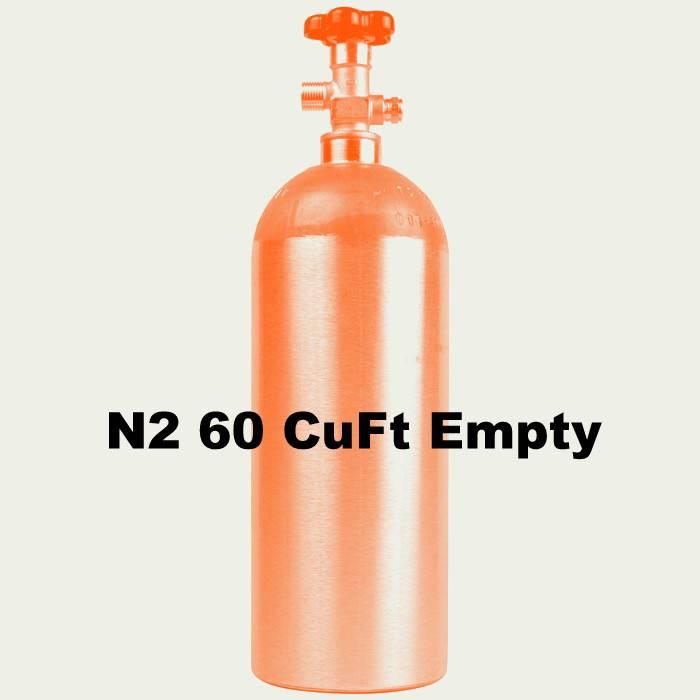 Foxx Equipment Company N2 Tank Empty (60 CuFt/H15)