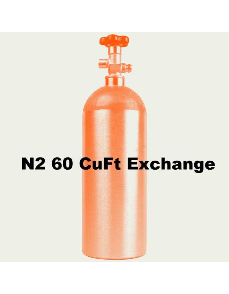 N2 Tank Exchange (60 CuFt/H15)