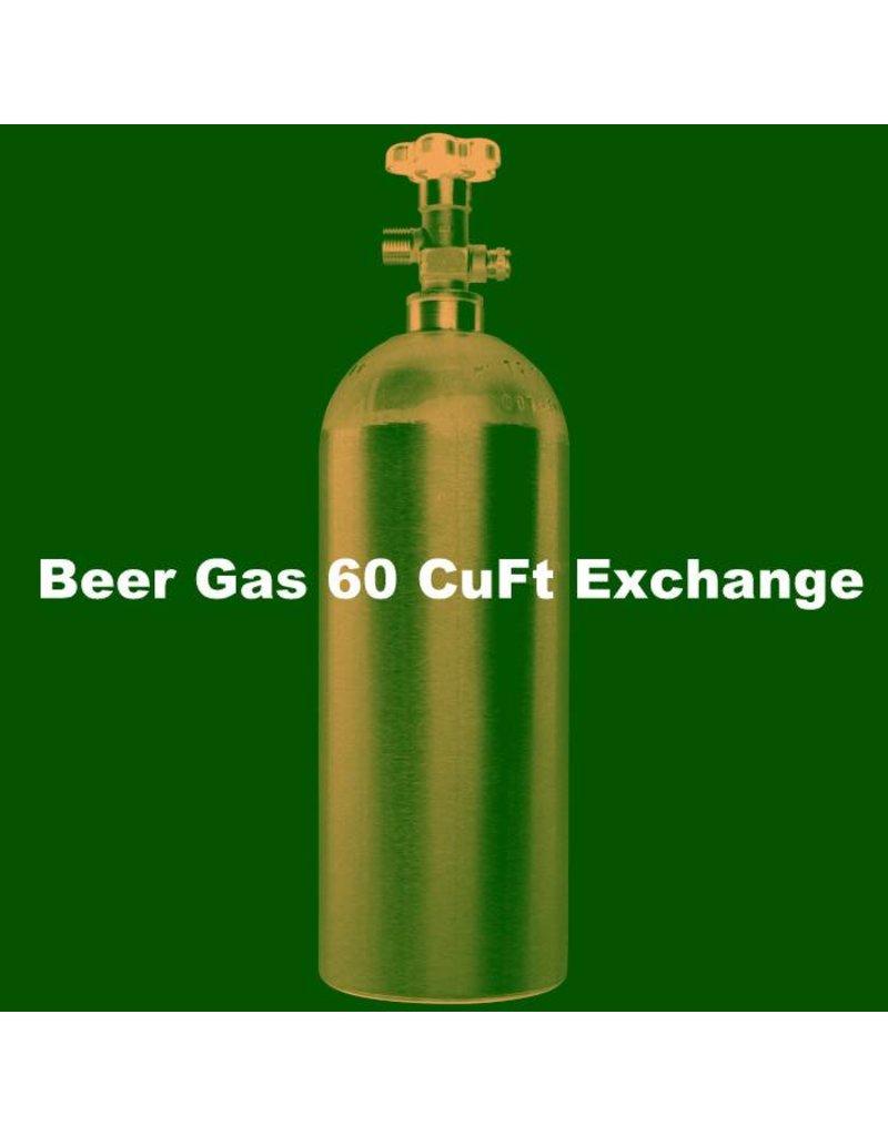 Beer Gas Tank Exchange (60 CuFt/H15)