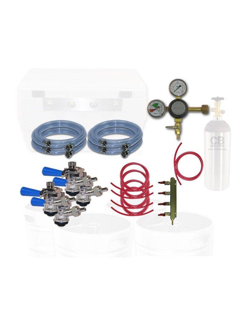 Coldbreak Brewing Jockey Box Dispensing Kit (4-Tap)