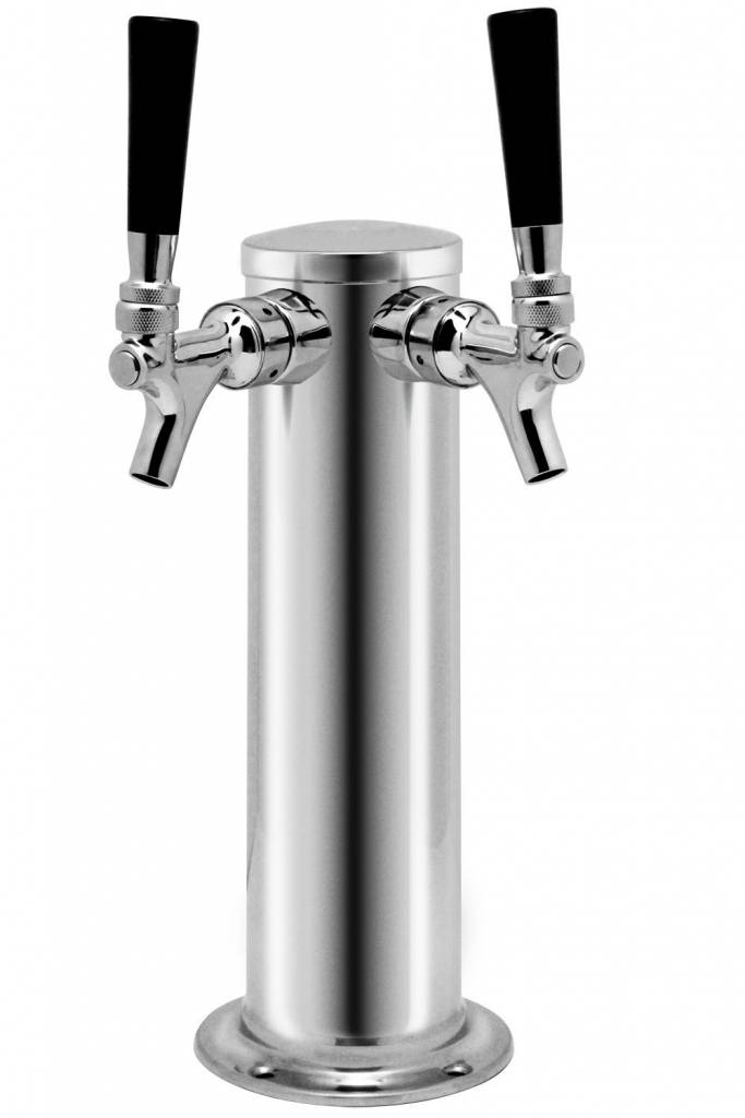 "LD Carlson Draught Tower SS 3"" Diameter (2-Faucet)(Complete)"