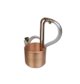 "Coldbreak Brewing Immersion Wort Chiller 25' Compact 3/8"" OD (Copper)"