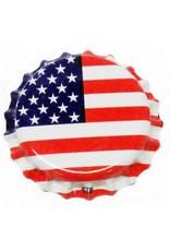 Crown Cap W/Oxy-Liner 144/Bag (American Flag)