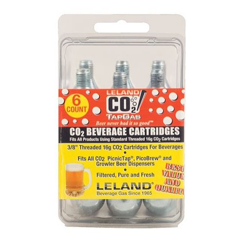 16g Threaded CO2 Cartridge (6 Pack)