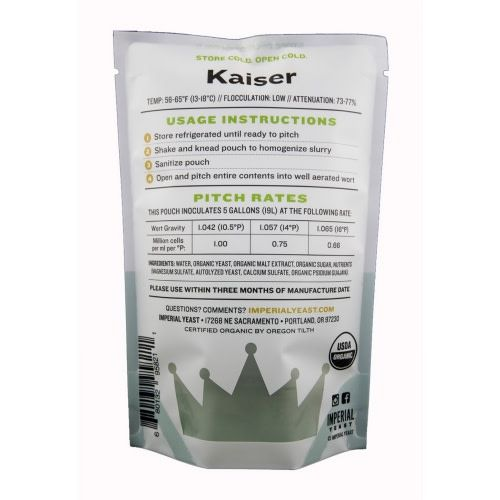 Imperial Yeast Imperial Organic Yeast (Kaiser)