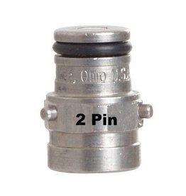 Foxx Equipment Company Pin Lock Gas Post (2-Pin)(Firestone)(9/16-18)