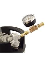 Ball Lock QD Adjustable Pressure Valve W/Gauge
