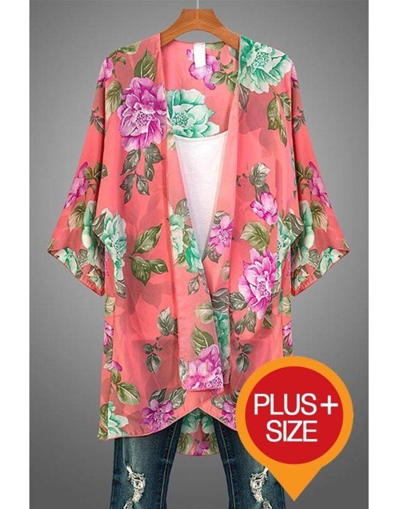 Floral Kimono Cardigan - Southern Sass Boutique
