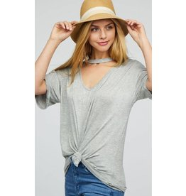 Dropped Shoulder Knit Top