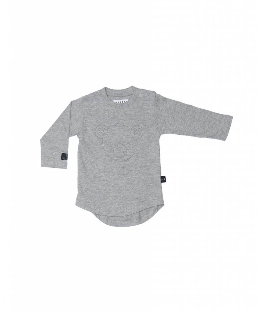 HUX BABY Stitch Bear Long Sleeve Top