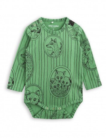 MINI RODINI Baby Fox Family Long Sleeve Body
