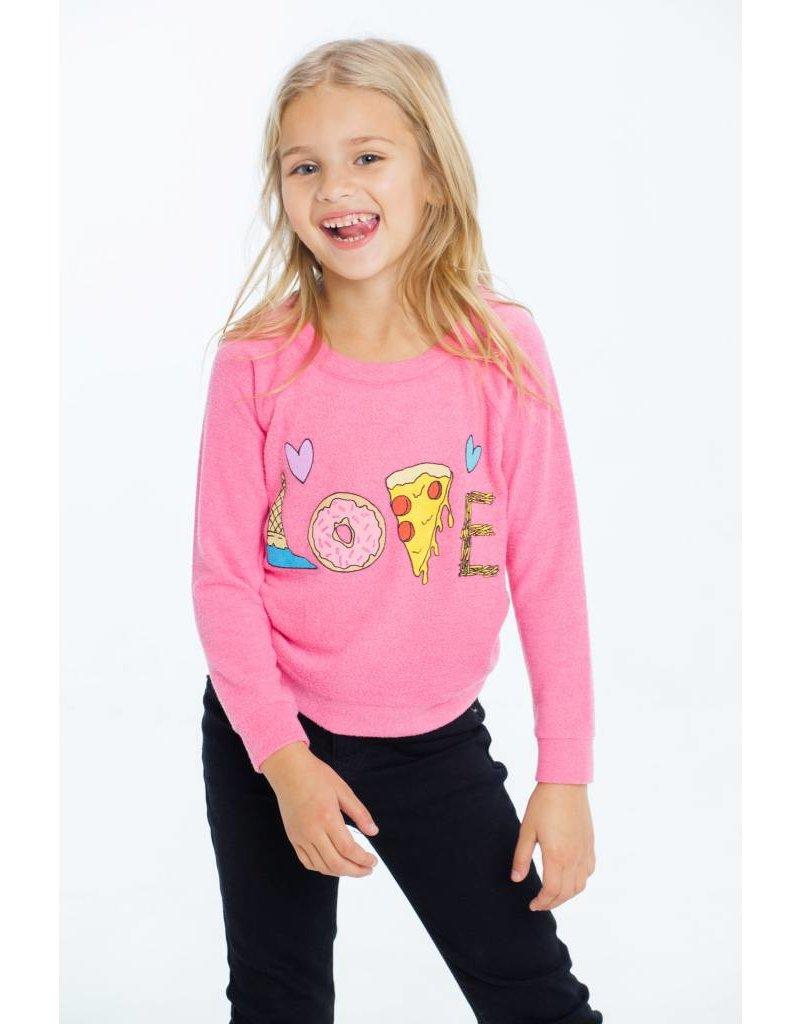 CHASER Knit Raglan Pullover, Yummy Love