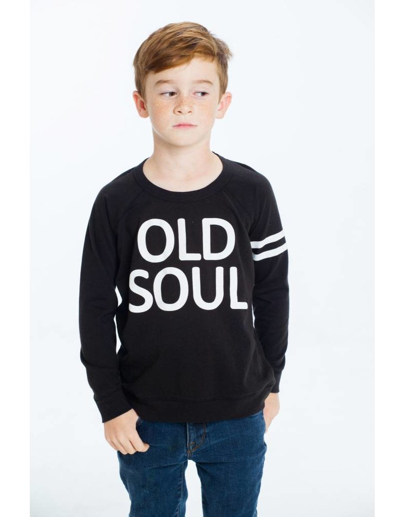 CHASER Cotton Long Sleeve Raglan Tee, Old Soul