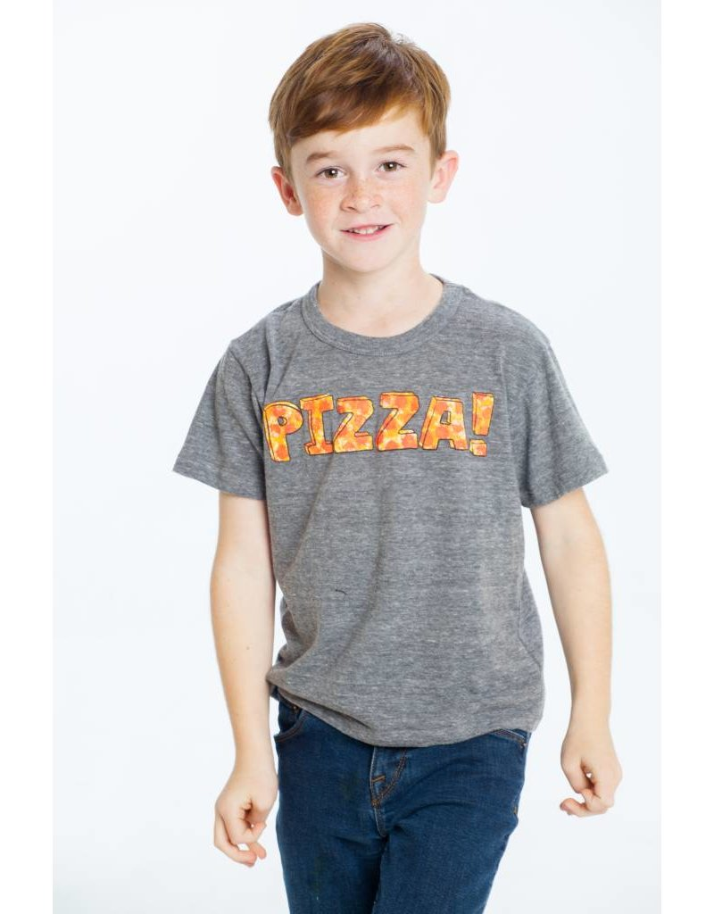 CHASER Triblend Crew Neck Short Sleeve Tee, Pizza Time
