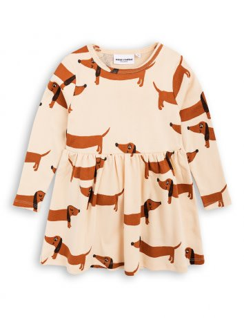 MINI RODINI Dog Long Sleeve Dress