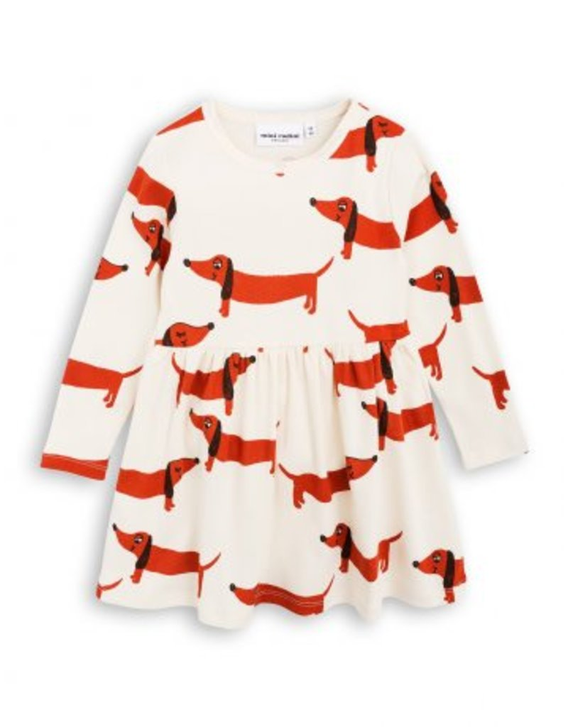 MINI RODINI Dog Long Sleeve Dress