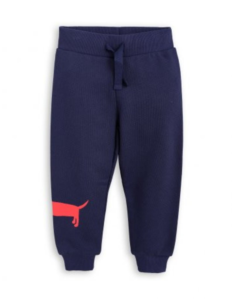 MINI RODINI Navy Dog Sweatpants