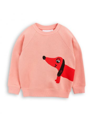 MINI RODINI Pink Dog Sweatshirt
