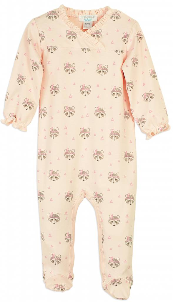 FEATHER BABY Racoon Crossover Footie