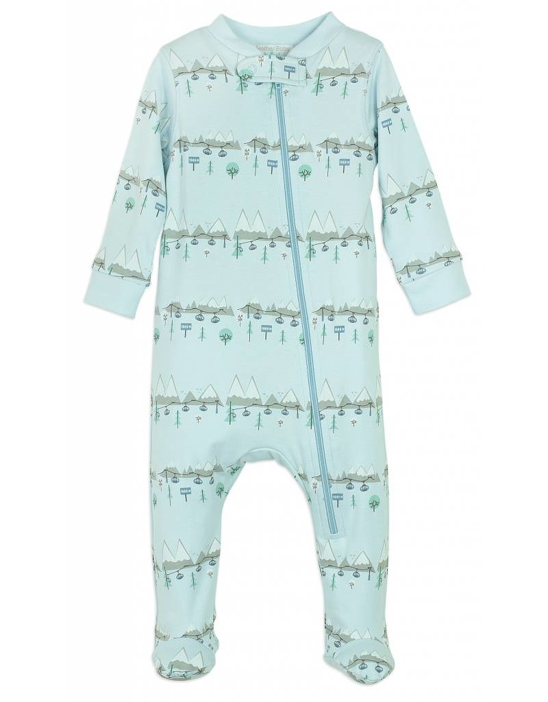 FEATHER BABY Ski Trip Zipper Footie