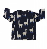 TINY COTTONS Llamas Long Sleeve Relaxed Tee