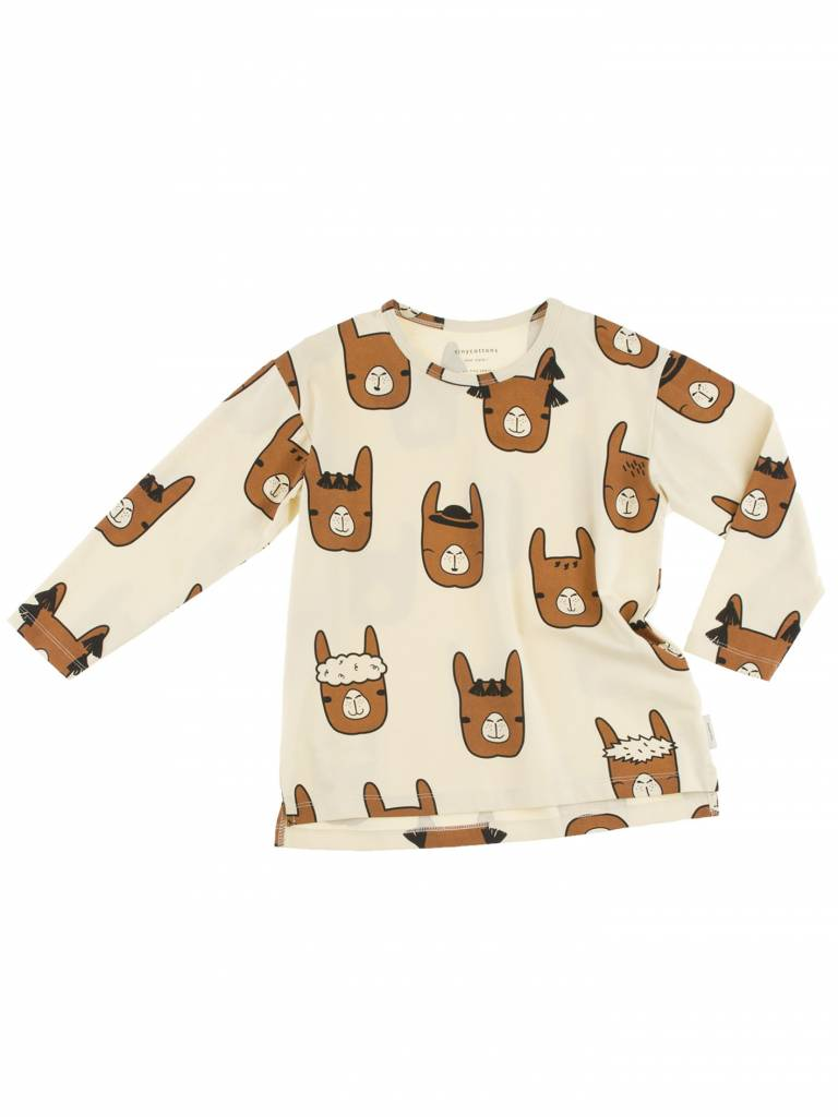 TINY COTTONS Llama Heads Relaxed Tee