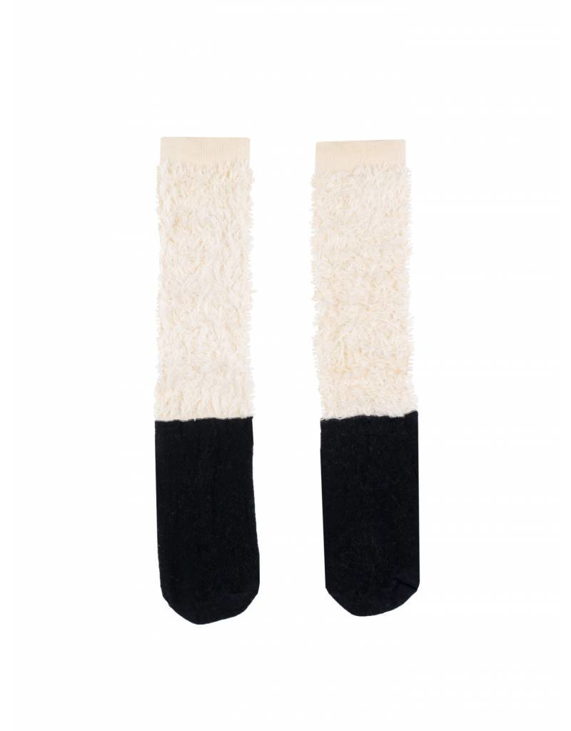 TINY COTTONS Hairy Color Block High Socks
