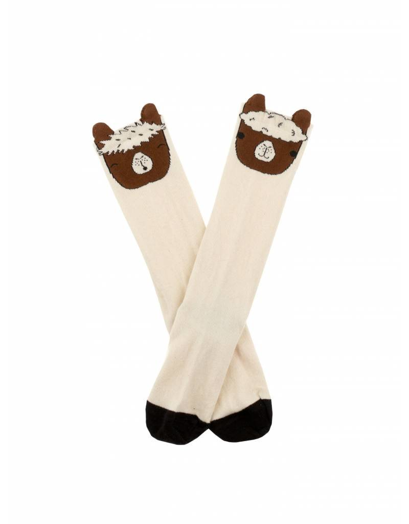 TINY COTTONS LLama Heads High Socks