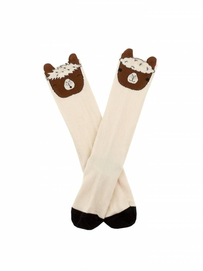 TINY COTTONS Llama Heads High Socks
