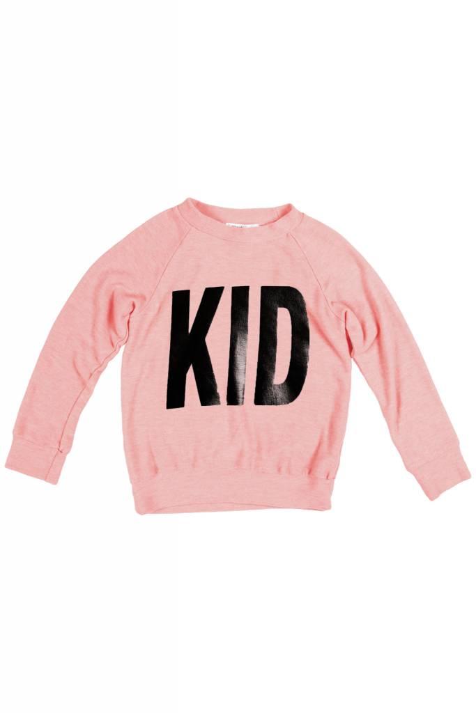 "JOAH LOVE ""Kid"" Print Faux Cashmere Sweater"