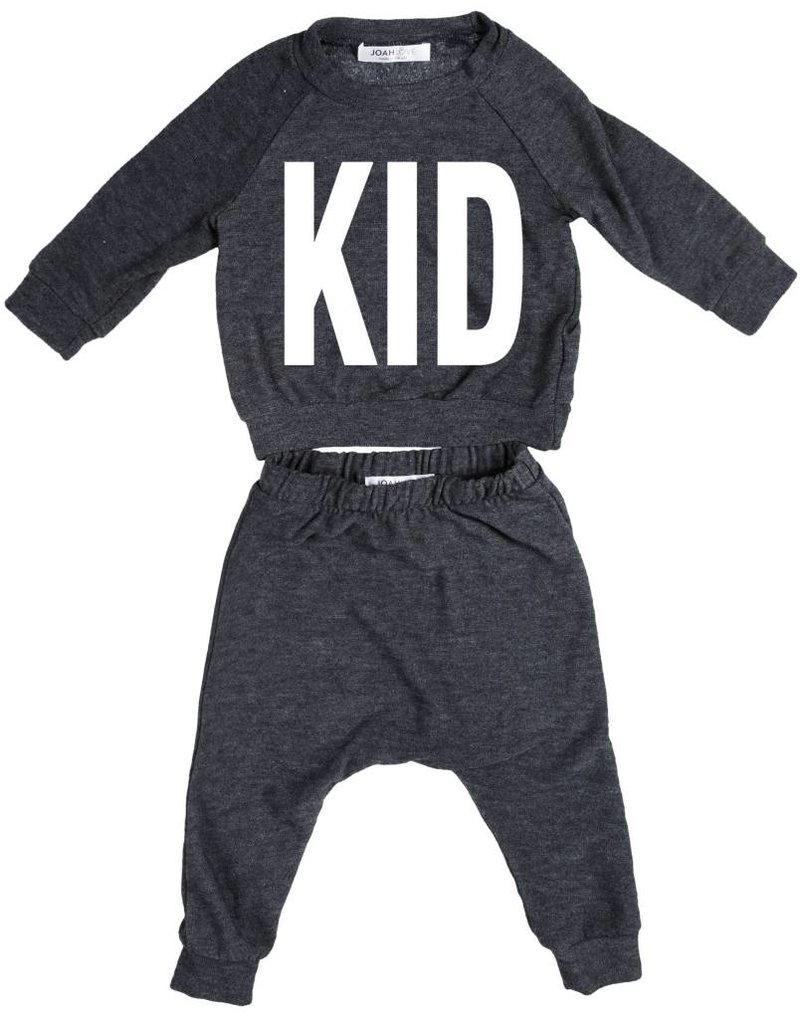 "JOAH LOVE ""Kid"" Print Faux Cashmere Set"