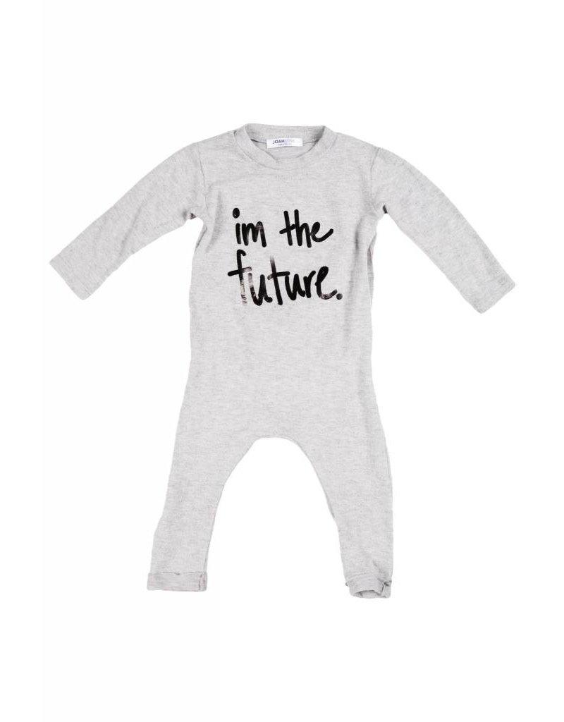 """JOAH LOVE """"Future"""" Print Faux Cashmere No Snap Playsuit"""