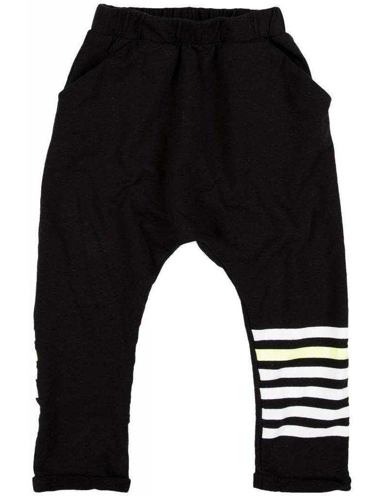 JOAH LOVE Stripe Leg Print Harem Pant