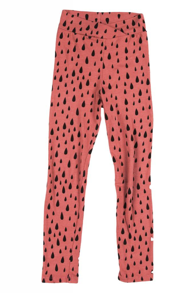 JOAH LOVE Rain Print Crossover Waist Leggings