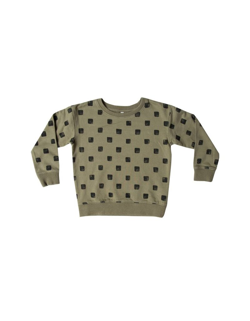RYLEE AND CRU Checker Sweatshirt