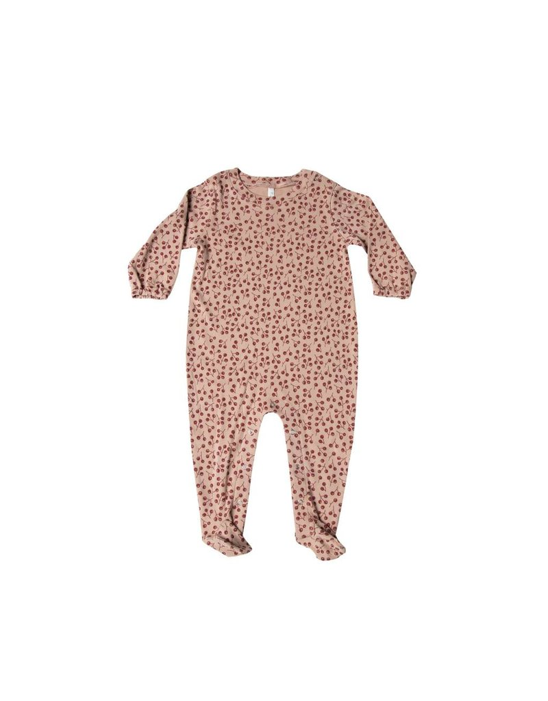 RYLEE AND CRU Winter Berry Footed Onesie