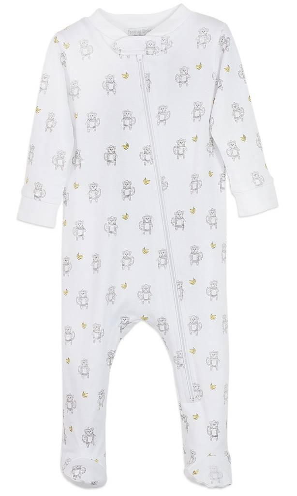 FEATHER BABY Zipper Footie