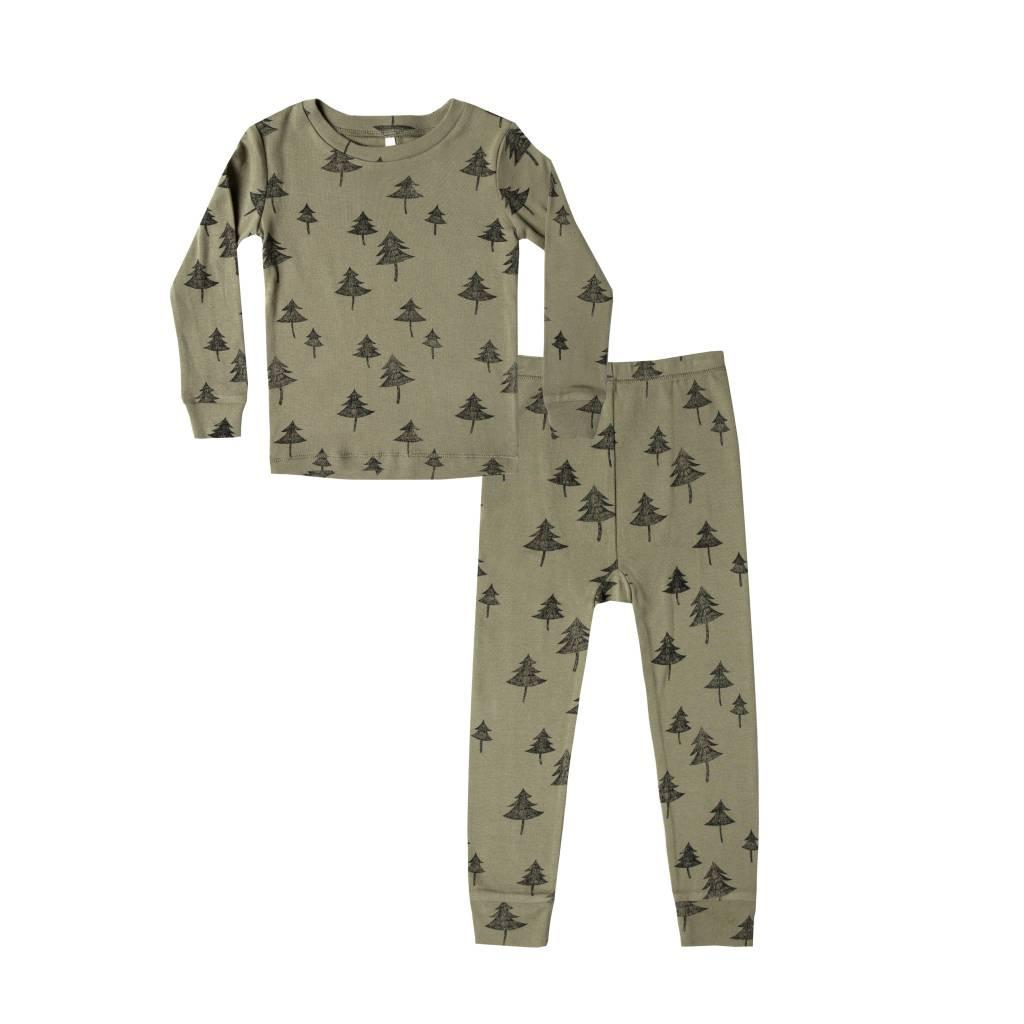 RYLEE AND CRU Tree Pajama Set